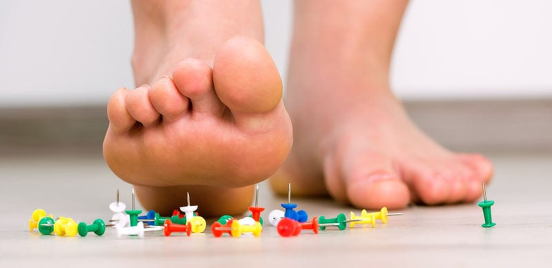 Ouch! Heel pain and painful plantar fasciitis.